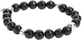 Carolyn Pollack Sterling and Gemstone Beaded Stretch Bracelet