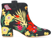 Laurence Dacade Belen denim Tropicale boots - women - Leather/Polyester - 37