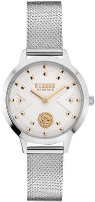 Versus By Versace Women's Palos Verdes Silver-Tone Stainless Steel Bracelet Watch 34mm