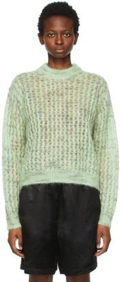 Acne Studios Green Crew Neck Sweater