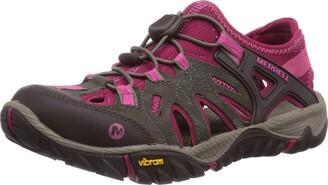 Merrell All Out Blaze Women's Slip-On Trekking and Hiking Shoes - Boulder/Fuchsia 5.5 UK