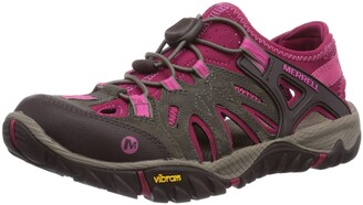 Merrell All Out Blaze Women's Speed-Laces Track and Field Shoes - Boulder/Fuchsia 6 UK