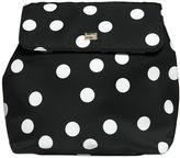 Dolce & Gabbana Dots Print Nylon & Leather Backpack