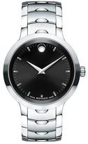 Movado 40mm Luno Sport Stainless Steel Watch, Black/Silver