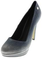 Diesel Womens Fame Strap Kristaly Denim Distressed Platform Heels