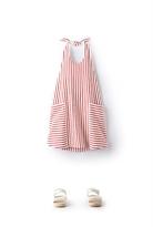 Country Road Stripe Halter Dress