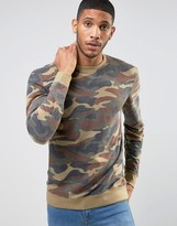 ONLY & SONS Sweatshirt In Camo