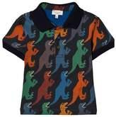 Paul Smith Navy Dinosaur Print Polo