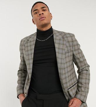 Reclaimed Vintage blazer in gray check
