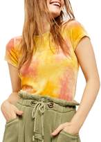 Free People Bright Eyes Velvet Tie-Dyed Tee