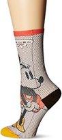 Stance Women's Tick Tock Minnie Mouse Crew Sock