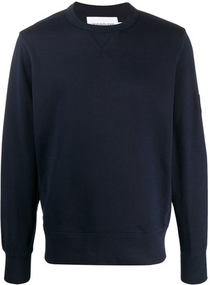 Calvin Klein Jeans Logo Patch Crew-Neck Sweatshirt