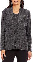 Preston & York Haley Dolman Sleeve Lurex Knit Cardigan