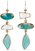 Melissa Joy Manning 14-karat Gold And Sterling Silver Multi-stone Earrings - one size