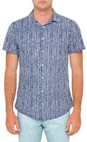 R & E RE: Printed Stripe Shirt
