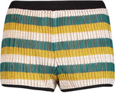 Missoni Striped metallic crochet-knit shorts