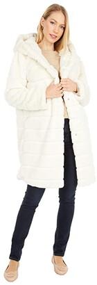 Apparis Celina Faux Fur Coat (Army Green) Women's Clothing