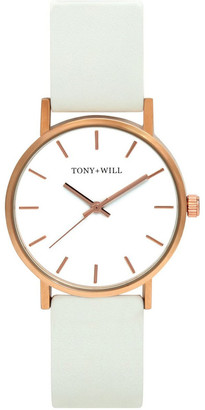 TONY+WILL Small Classic White TWT004C Watch