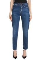 Saint Laurent Women's Embroidered Jeans