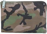 Valentino camouflage document case - men - Acrylic/Polyamide - One Size