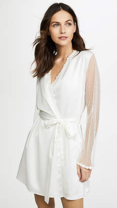Flora Nikrooz Showstopper Charmeuse Robe With Lace