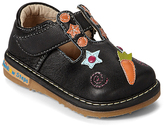 Rainbow Steps Black Star T-Strap Leather Squeaker Shoe