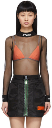 Heron Preston Black Mesh Bodysuit