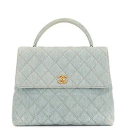 Chanel Pre Owned 1997 diamond quilted CC tote