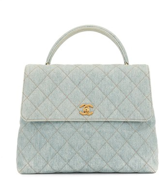 Chanel Pre-Owned 1997 diamond quilted CC tote