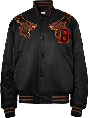 Burberry Varsity Satin Bomber Jacket