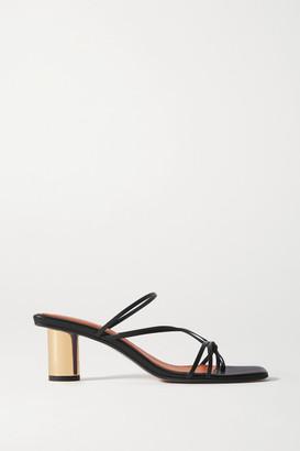 Souliers Martinez Aranda Leather Mules - Black