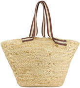 Magid Women's Handbags Natural - Natural Stripe-Handle Tote