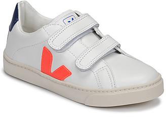 Veja SMALL ESPLAR VELCRO girls's Shoes (Trainers) in White
