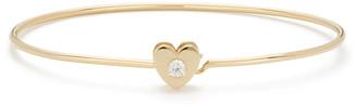 Ariel Gordon Heart Catch 14K Yellow-Gold Cuff Bracelet