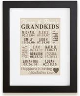 Personal Creations Personalized Happiness is Grandkids Print