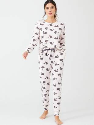 Very Swan Soft Touch Lounge Set - Print