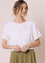 Missy Empire Kaia White Short Sleeved Utility Crop Top