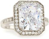 FANTASIA Bezel-Set Emerald-Cut Cubic Zirconia Ring