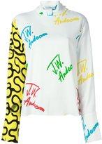 J.W.Anderson logo print blouse