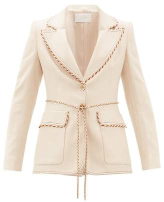 Peter Pilotto Braided-trim Single-breasted Tweed Jacket - Womens - Beige
