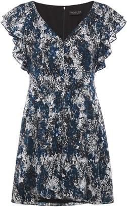 Rachel Zoe Ruffled Devore-chiffon Mini Dress