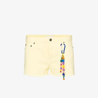Mira Mikati Raw Hem Denim Shorts