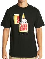 DGK Men's Fire It Up T Shirt Black XL