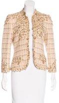 Oscar de la Renta Sequined Tweed Jacket