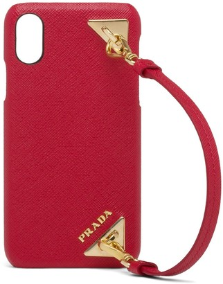 Prada Saffiano leather cover iPhone X and XS case
