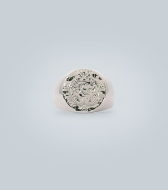 Tom Wood Silk coin ring in sterling silver