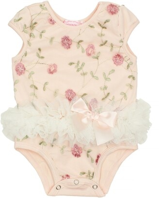 Popatu Flower Embroidered Tutu Bodysuit