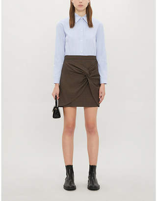 Sandro Collared cotton and stretch-woven dress