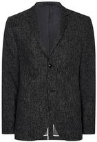Topman Charcoal Neppy Relaxed Fit Blazer