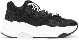 Just Cavalli Snakeskin-Effect Low-Top Sneakers